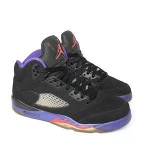 Jordan Shoes - Nike Air Jordan V Raptors Black Purple Sz 4 Y